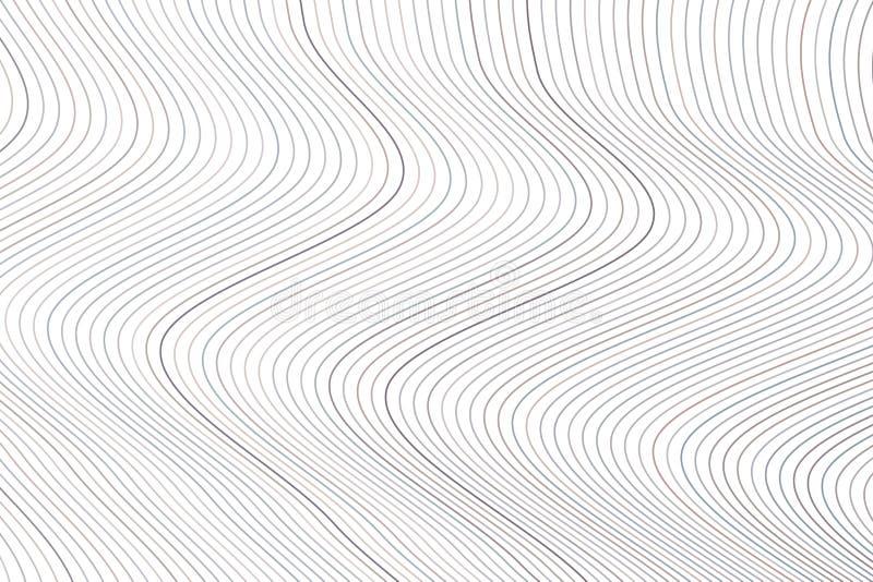 Fondo geométrico abstracto con la forma del modelo de la línea, de la curva y de onda Creativo, dibujo, gráfico y contexto libre illustration