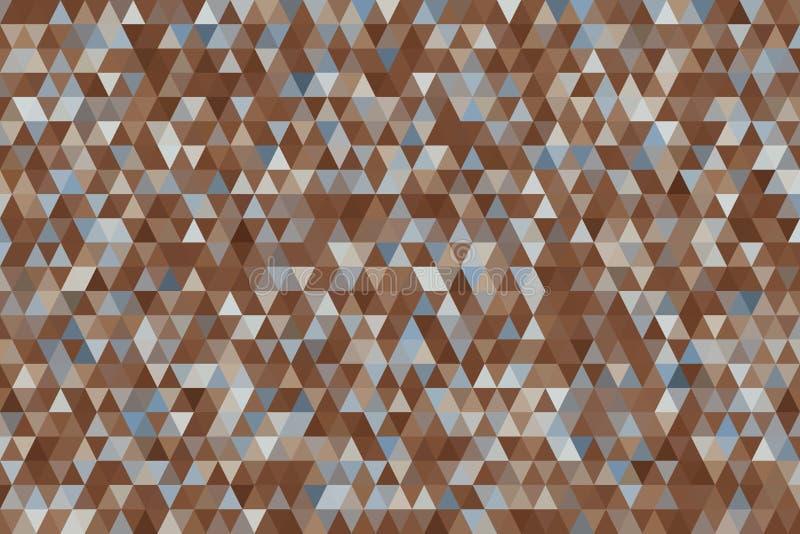 Fondo geométrico abstracto con la forma del modelo de la tira del triángulo Ejemplo, dibujo, arte y papel pintado ilustración del vector