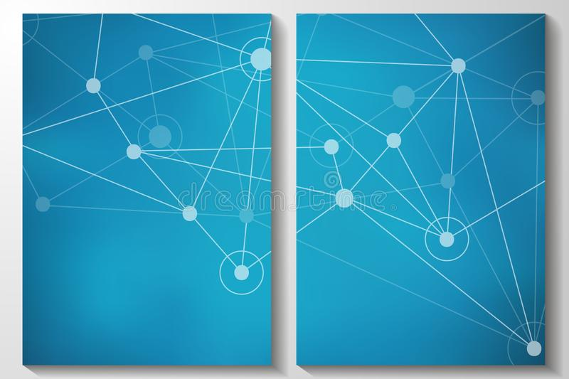 Fondo geométrico abstracto con las líneas y los puntos conectados libre illustration