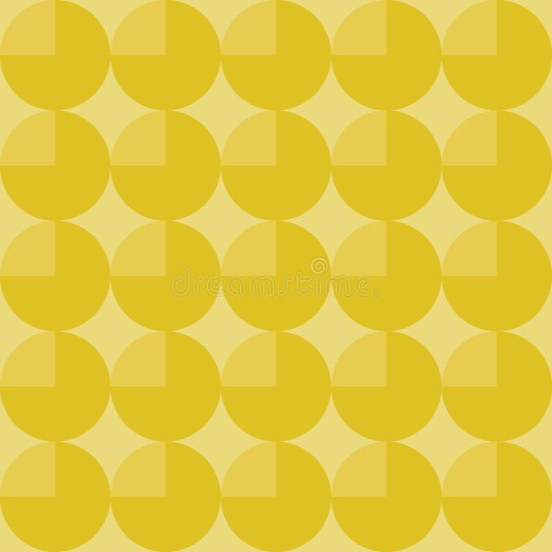 Fondo geométrico abstracto con los círculos amarillos stock de ilustración