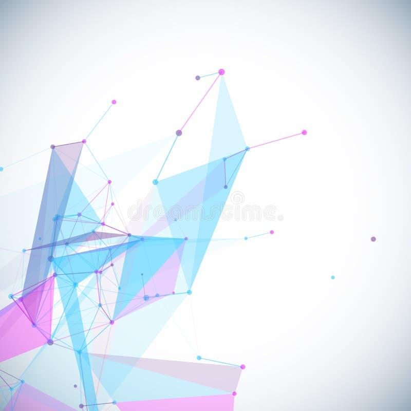 Fondo geométrico abstracto con los círculos, líneas libre illustration