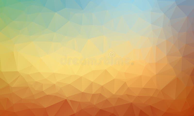 Fondo geométrico abstracto con los polígonos Composición de los gráficos de la información con formas geométricas stock de ilustración