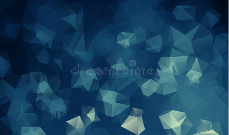 Fondo geométrico abstracto con los polígonos Composición de los gráficos de la información con formas geométricas Diseño retro de stock de ilustración