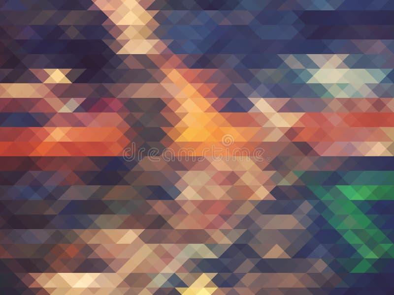 Fondo geométrico abstracto con los triángulos fotografía de archivo libre de regalías
