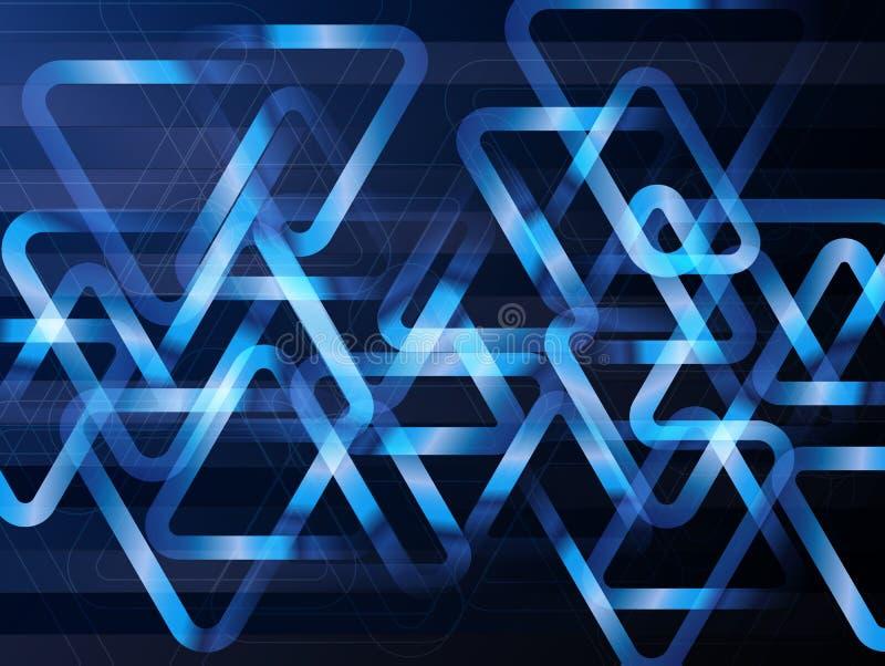 Fondo geométrico abstracto con los triángulos Concepto de la tecnología digital del vector stock de ilustración