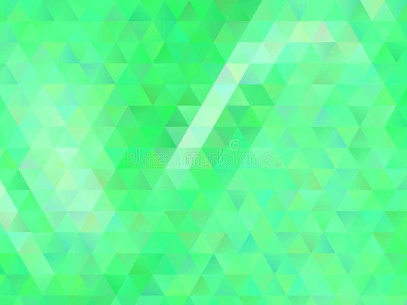 Fondo geométrico abstracto con los triángulos verdes Modelo del polígono, ejemplo del vector libre illustration