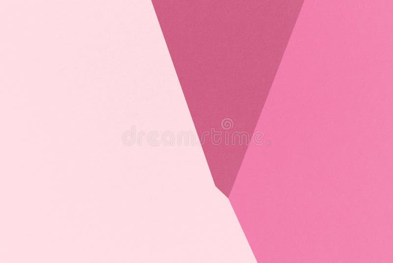 Fondo geométrico abstracto de Cherry Red con Borgoña viva, Cerise, colores de Cherry Blossom Pink, textura del papel de la acuare ilustración del vector