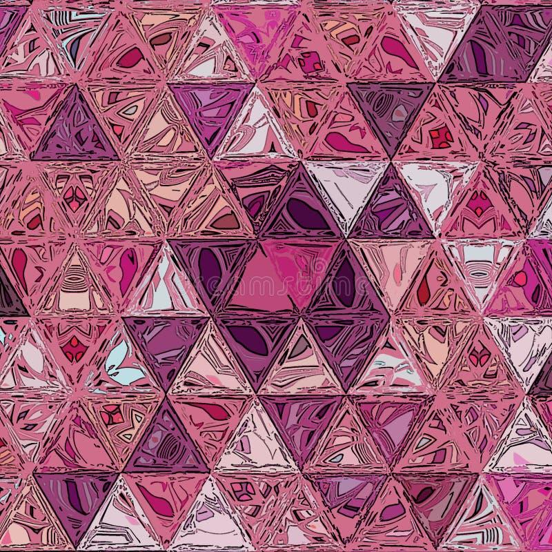 Fondo geométrico abstracto de la acuarela con los triángulos ilustración del vector