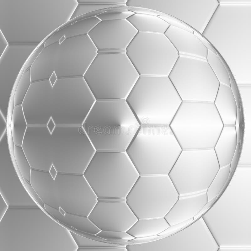 Fondo geométrico abstracto de la bola del color gris y blanco ilustración del vector