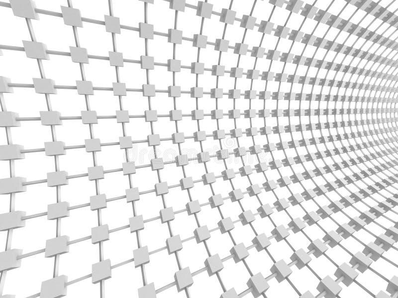 Fondo geométrico abstracto del blanco de los cubos fotos de archivo