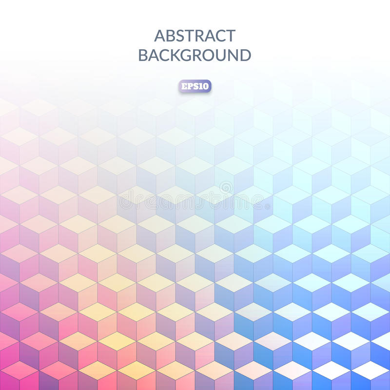 Fondo geométrico abstracto del cubo en estilo isométrico Sombras de colores Transiciones del color libre illustration