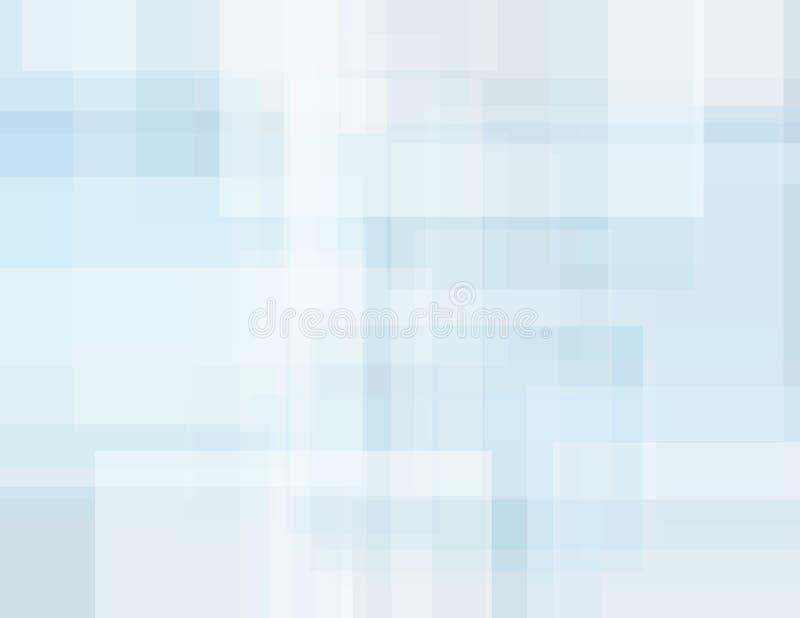 Fondo geométrico abstracto del gris azul con rectángulos sutil ilustración del vector