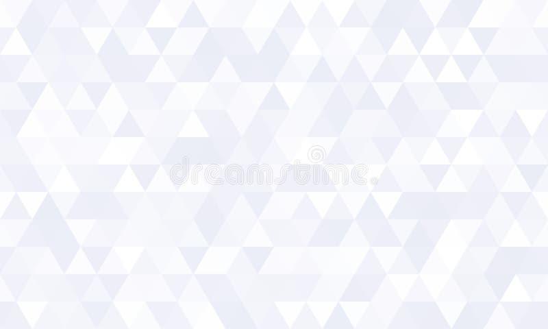 Fondo geométrico abstracto del modelo, diseño blanco del vector de la forma del mosaico del polígono Diamante triangular plano mí stock de ilustración
