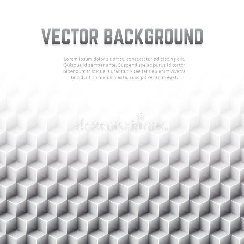 Fondo geométrico abstracto del vector con los cubos 3D ilustración del vector