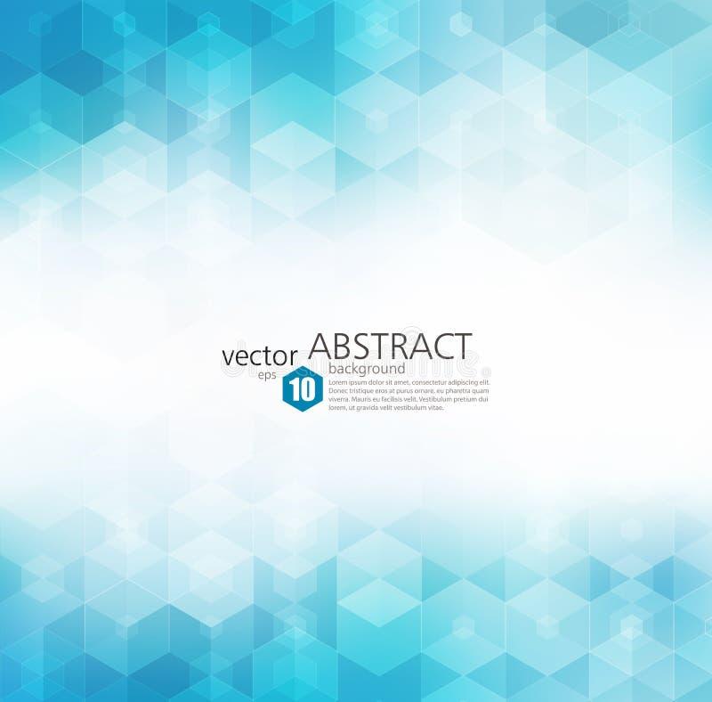 Fondo geométrico abstracto del vector Diseño del folleto de la plantilla stock de ilustración