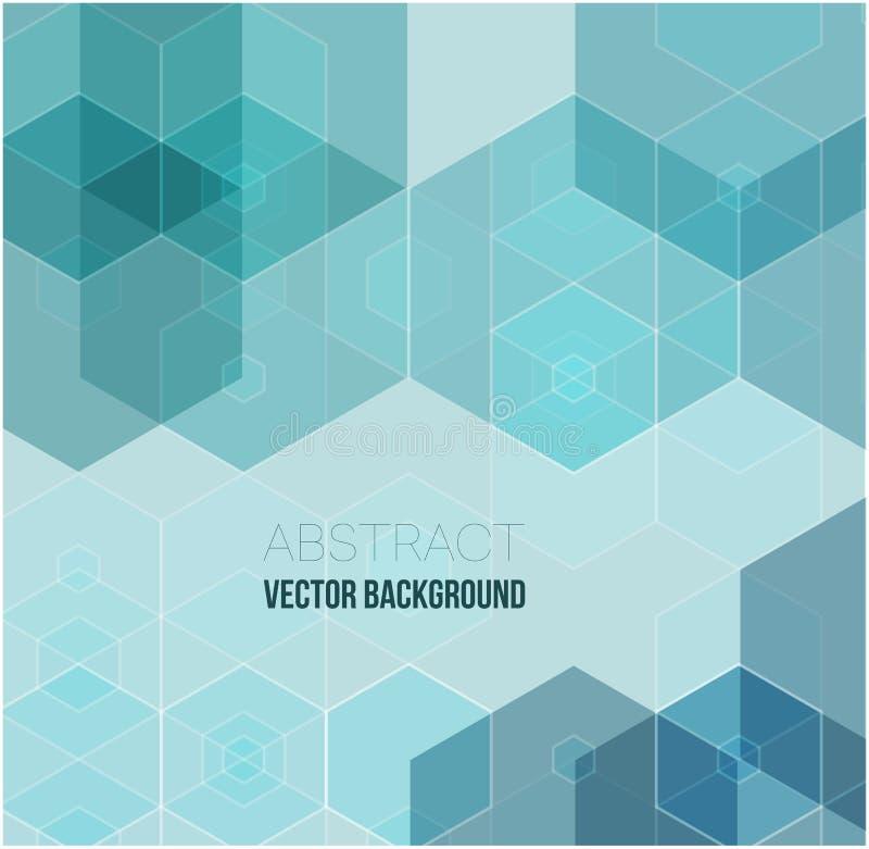 Fondo geométrico abstracto del vector Diseño del folleto de la plantilla Forma verde del hexágono libre illustration
