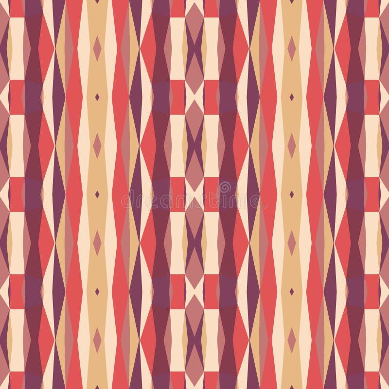 Fondo geométrico abstracto en colores rosados y anaranjados Modelo inconsútil del vector stock de ilustración