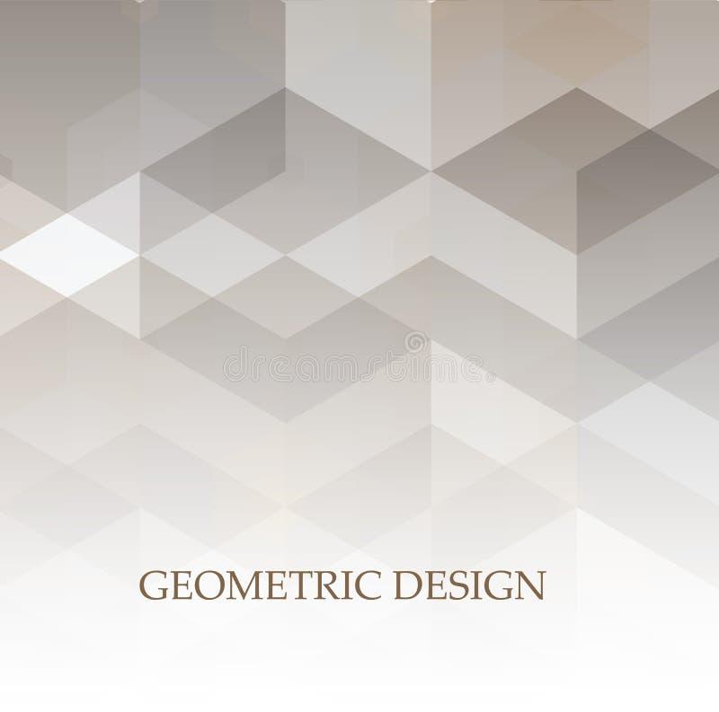 Fondo geométrico abstracto EPS 10 del diseño corporativo de la tecnología gris y blanca stock de ilustración