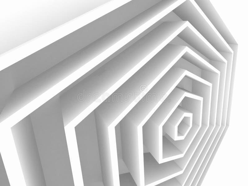 Fondo geométrico abstracto, hexagonal libre illustration