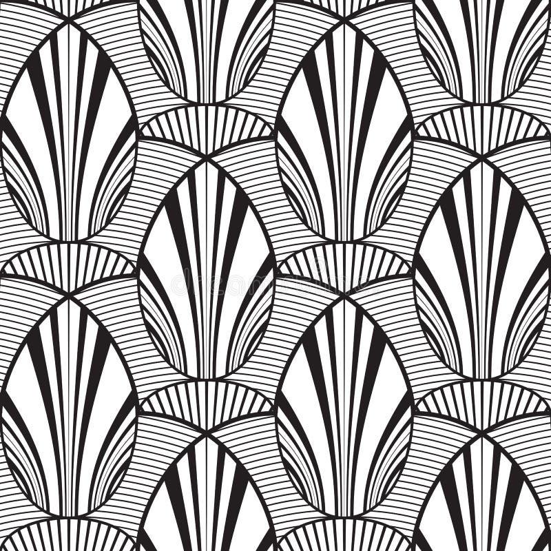 Fondo geométrico abstracto inconsútil de la flor ilustración del vector