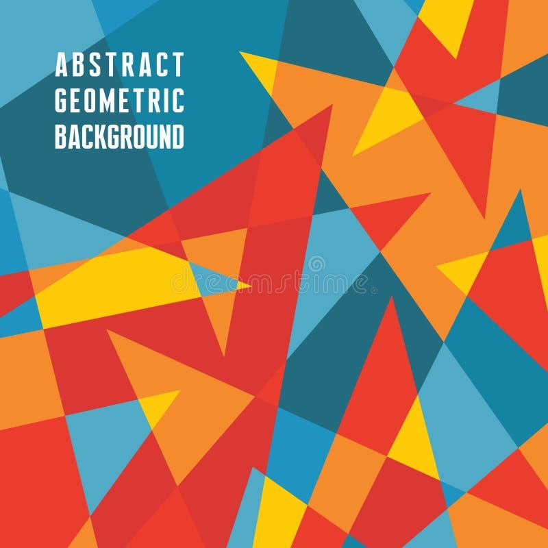 Fondo geométrico abstracto - modelo del vector Fondo abstracto del vector de los triángulos stock de ilustración