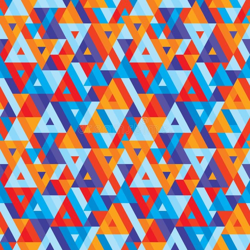 Fondo geométrico abstracto - modelo inconsútil del vector para la presentación, el folleto, el sitio web y el otro proyecto de di stock de ilustración