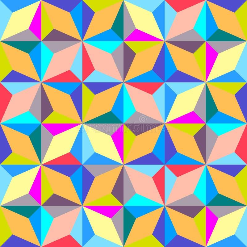 Fondo geométrico abstracto moderno, diseño poligonal inconsútil ilustración del vector