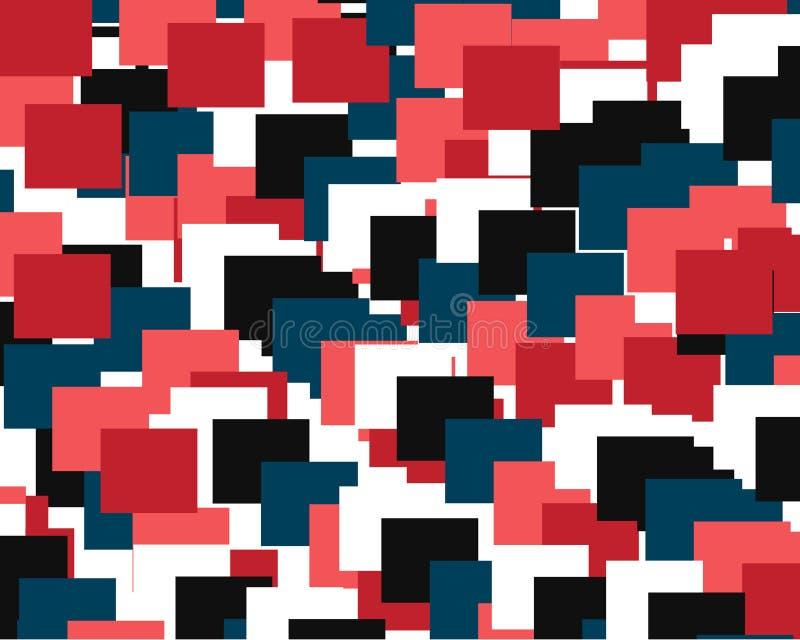 Fondo geométrico abstracto que consiste en un sistema de cuadrados coloreados ilustración del vector