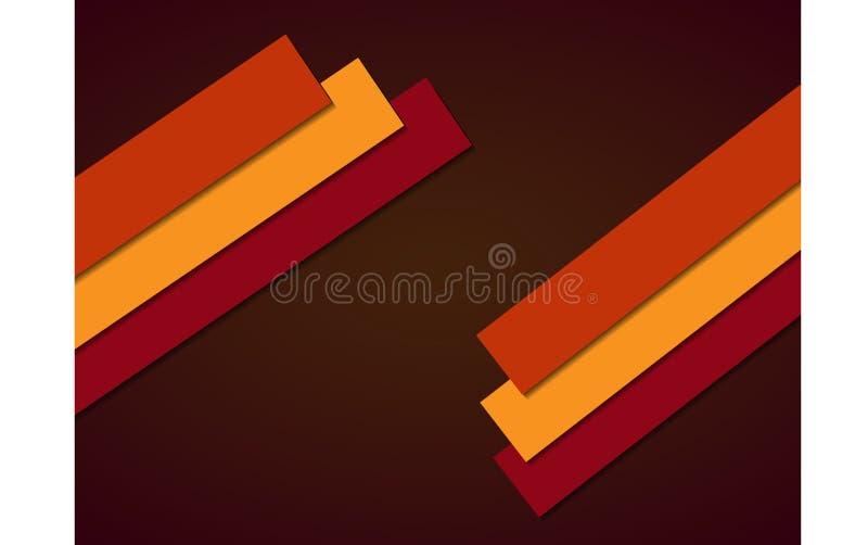 Fondo geométrico abstracto, rectángulos del color aislado en fondo marrón ilustración del vector