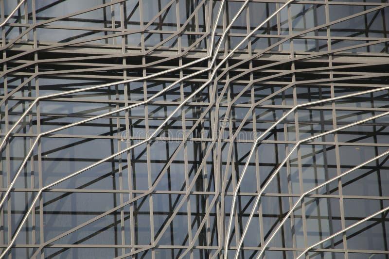 Fondo geométrico arquitectónico del edificio de oficinas moderno fotografía de archivo