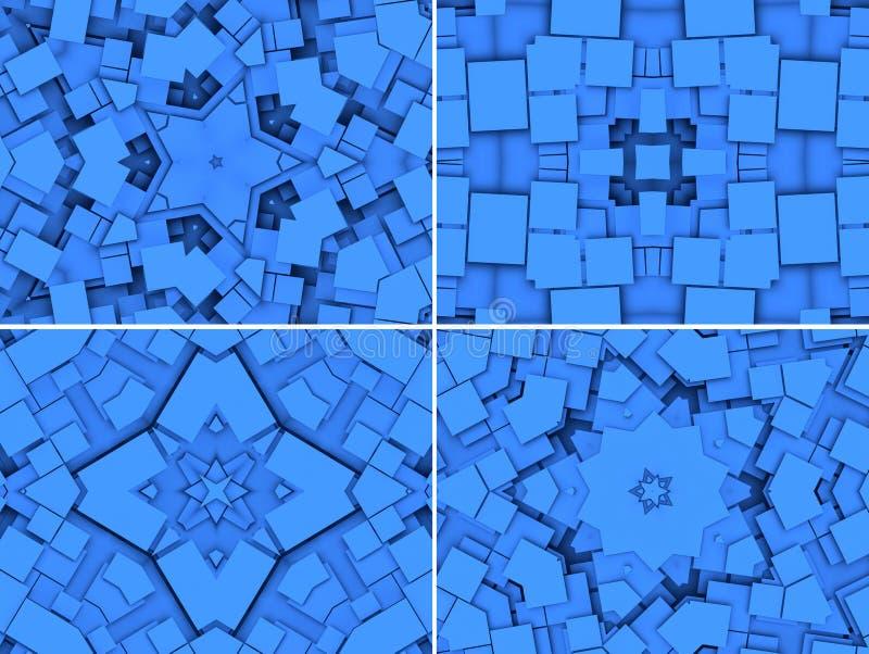 Fondo geométrico azul con las estrellas fotos de archivo libres de regalías
