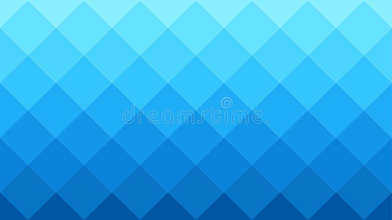 Fondo geométrico azul de Gradated con el modelo diagonal de los cuadrados ilustración del vector