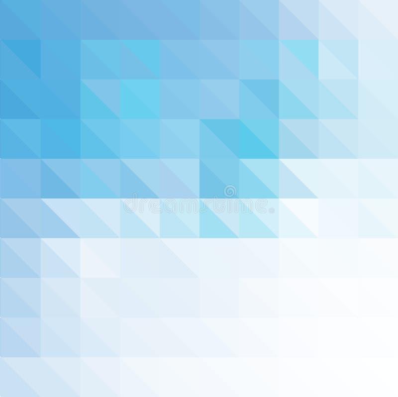 Fondo geométrico azul hecho de triángulos ilustración del vector