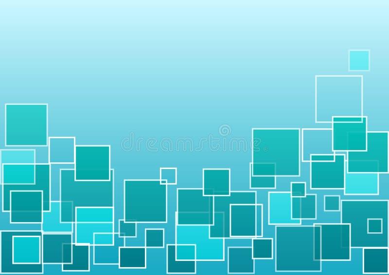 Fondo geométrico azul y verde con los cuadrados Vector libre illustration