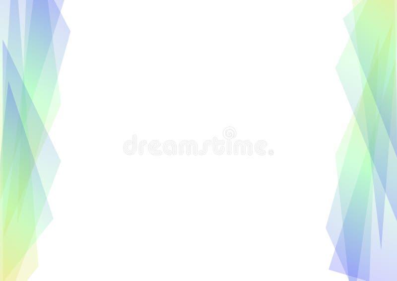 Fondo geométrico azul y verde del extracto del espectro ilustración del vector