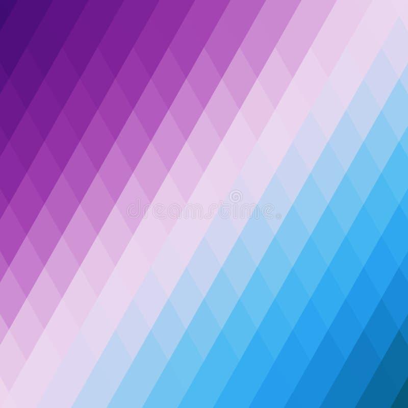 Fondo geométrico azul y violeta abstracto de triángulos Mosaico colorido de formas simétricas Tonos y gra suaves del color stock de ilustración
