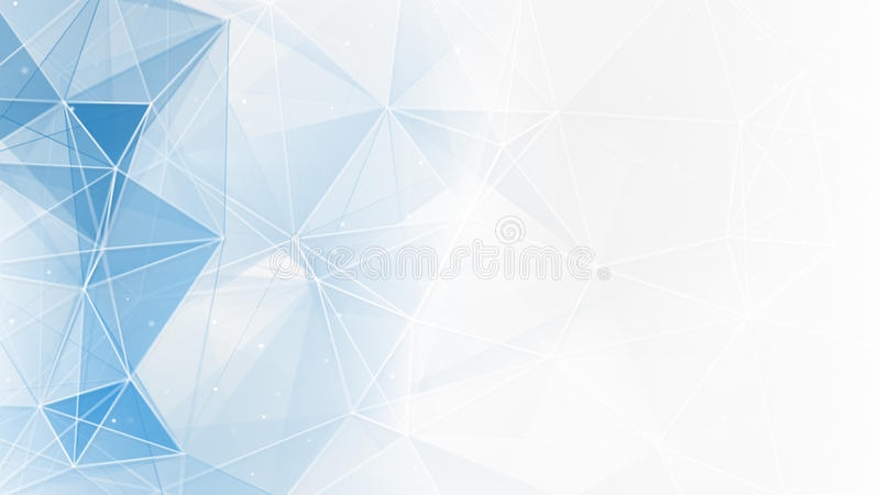 Fondo geométrico blanco azul abstracto del web ilustración del vector