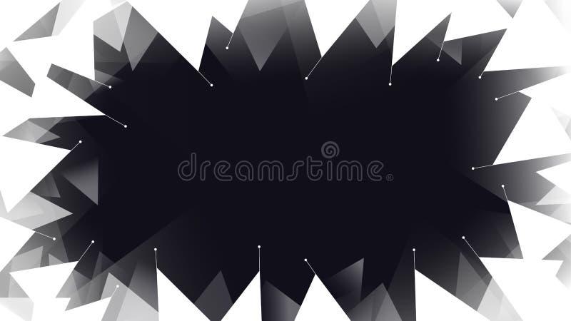 Fondo geométrico blanco del extracto del marco stock de ilustración