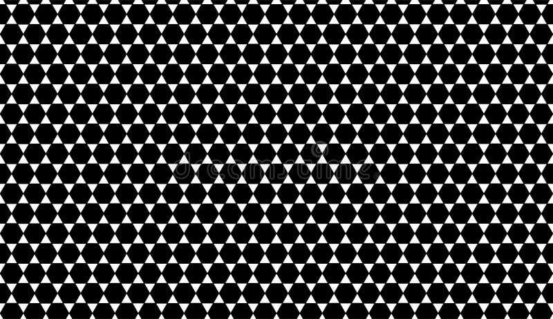 Fondo geométrico blanco y negro inconsútil del modelo del triángulo del vector ilustración del vector