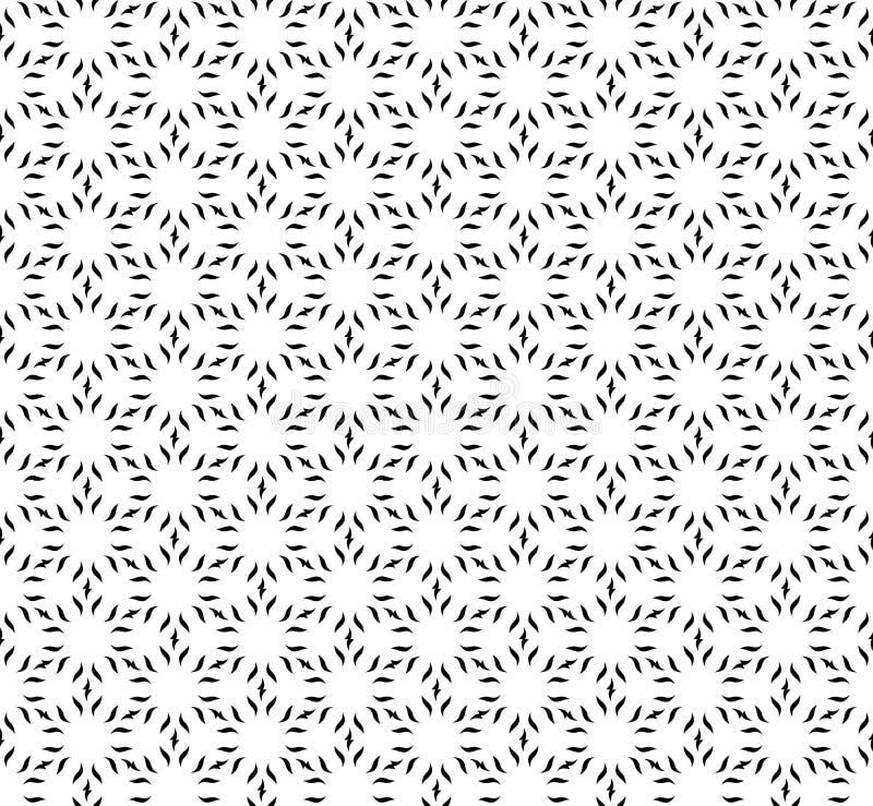 Fondo geométrico blanco y negro inconsútil del modelo del vector libre illustration