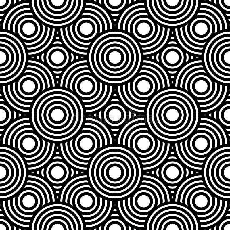 Fondo geométrico blanco y negro inconsútil del vector, str simple ilustración del vector