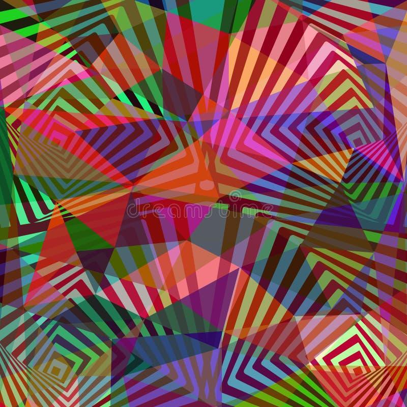 Fondo geométrico colorido abstracto para las cajas del teléfono del diseño, c stock de ilustración