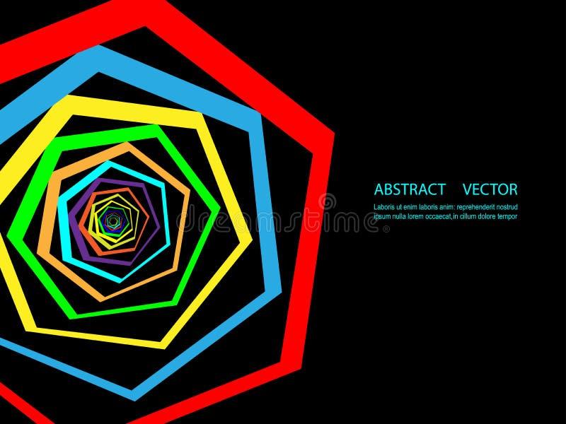 Fondo geométrico colorido abstracto Plantilla moderna para la presentación del negocio o de la tecnología stock de ilustración