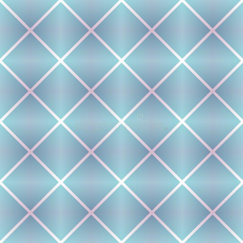 Fondo geométrico con el cuadrado en la repetición Rosado-azul y lila, modelo inconsútil violeta Diseño para la impresión en la te ilustración del vector