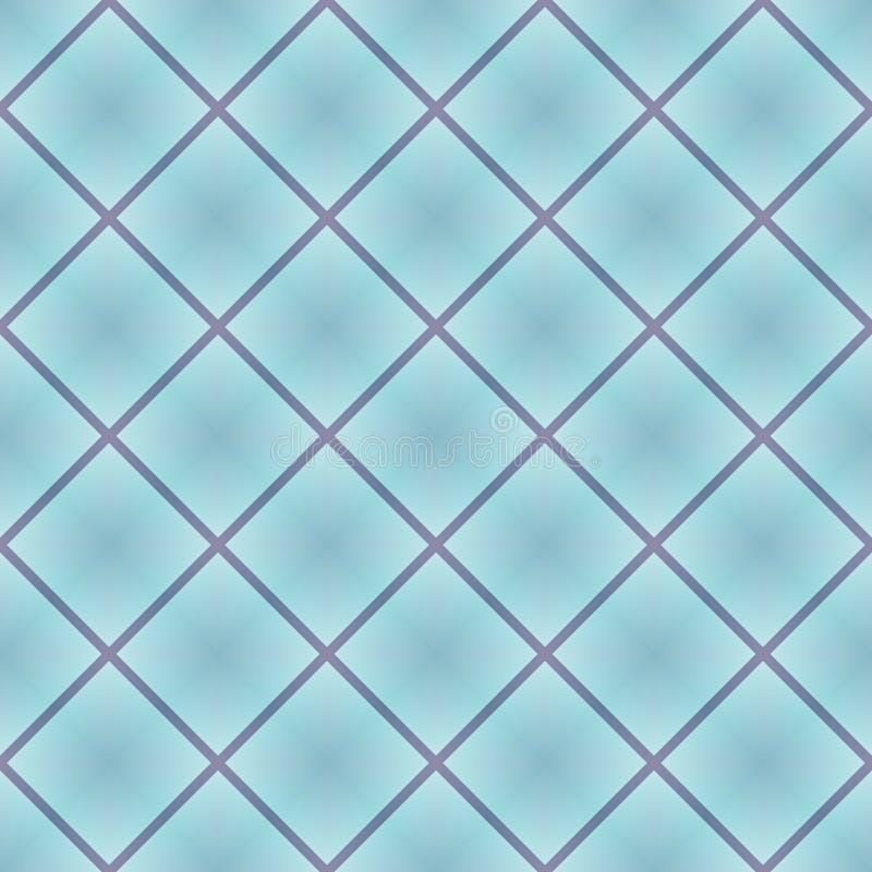 Fondo geométrico con el cuadrado en la repetición Rosado-azul y lila, modelo inconsútil violeta Diseño para la impresión en la te stock de ilustración