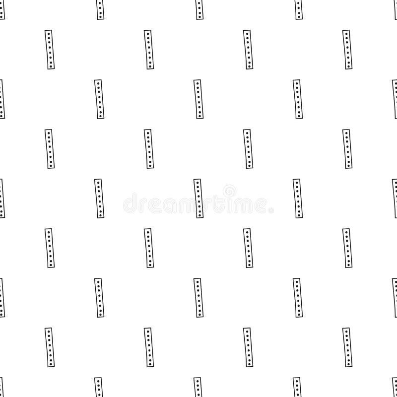 Fondo geométrico con rectángulos Ejemplo blanco y negro, modelo inconsútil Diseño para el papel pintado y la cubierta libre illustration