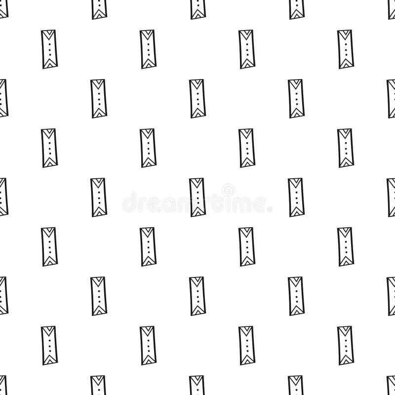 Fondo geométrico con rectángulos Ejemplo blanco y negro, modelo inconsútil Diseño para el papel pintado y la cubierta stock de ilustración