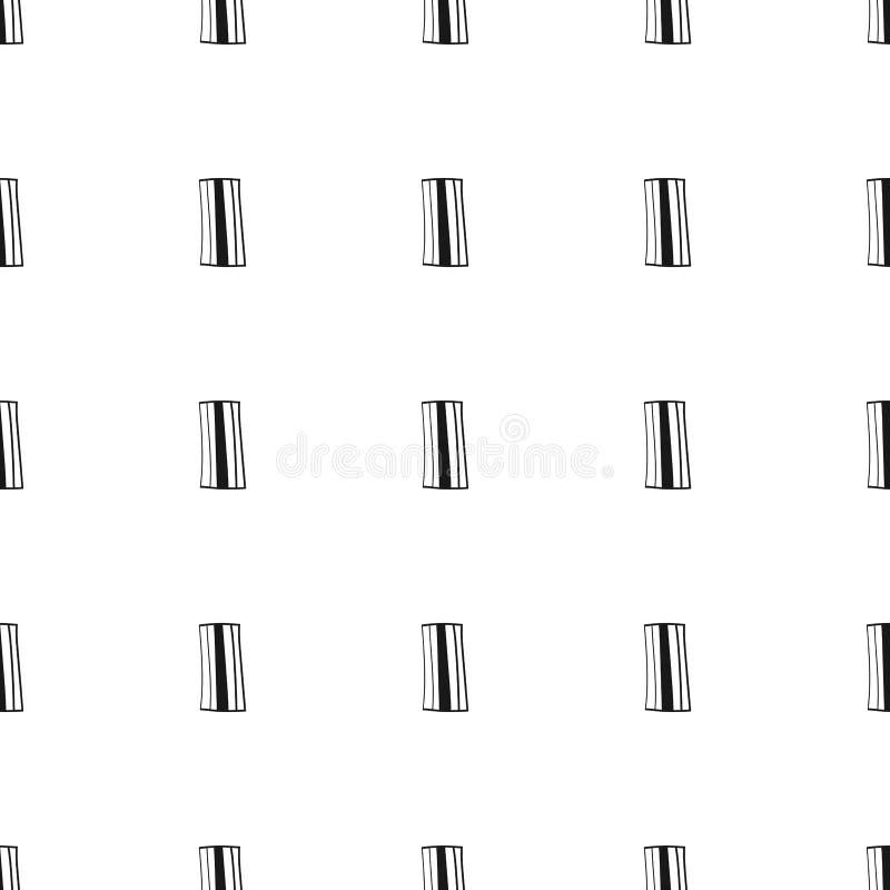 Fondo geométrico con rectángulos Ejemplo blanco y negro, modelo inconsútil Diseño para el papel pintado y la cubierta ilustración del vector