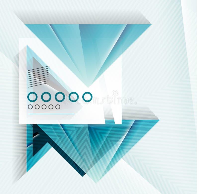 Fondo geométrico de la forma abstracta azul del triángulo ilustración del vector
