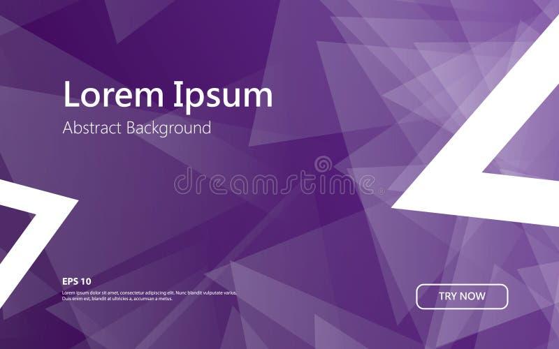 Fondo geométrico de la forma abstracta de moda del triángulo Concepto mínimo stock de ilustración